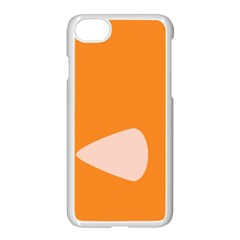 Screen Shot Circle Animations Orange White Line Color Apple Iphone 7 Seamless Case (white) by Mariart