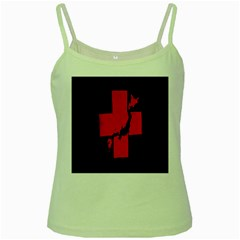Sign Health Red Black Green Spaghetti Tank by Mariart