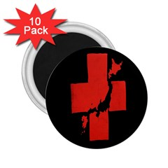 Sign Health Red Black 2 25  Magnets (10 Pack)  by Mariart