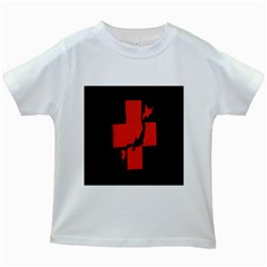 Sign Health Red Black Kids White T Shirts by Mariart