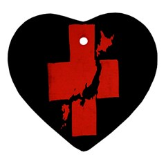 Sign Health Red Black Heart Ornament (two Sides) by Mariart