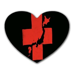 Sign Health Red Black Heart Mousepads by Mariart