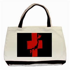 Sign Health Red Black Basic Tote Bag (two Sides) by Mariart