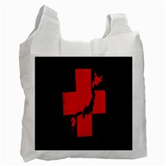 Sign Health Red Black Recycle Bag (one Side) by Mariart