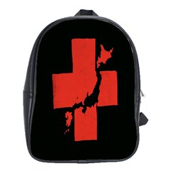 Sign Health Red Black School Bags(large)