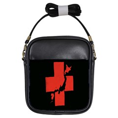 Sign Health Red Black Girls Sling Bags by Mariart