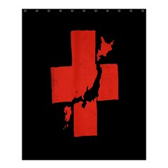Sign Health Red Black Shower Curtain 60  X 72  (medium)  by Mariart