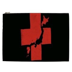 Sign Health Red Black Cosmetic Bag (xxl)  by Mariart