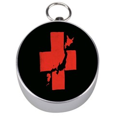 Sign Health Red Black Silver Compasses by Mariart