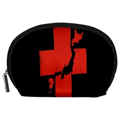 Sign Health Red Black Accessory Pouches (large)  by Mariart
