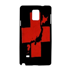Sign Health Red Black Samsung Galaxy Note 4 Hardshell Case by Mariart
