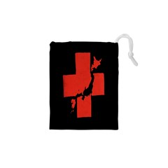 Sign Health Red Black Drawstring Pouches (xs)  by Mariart