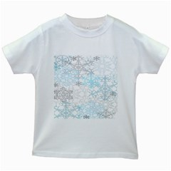 Sign Flower Floral Transparent Kids White T Shirts by Mariart