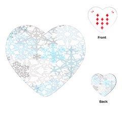 Sign Flower Floral Transparent Playing Cards (heart)  by Mariart