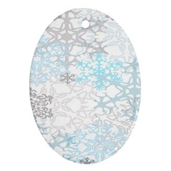 Sign Flower Floral Transparent Oval Ornament (two Sides) by Mariart