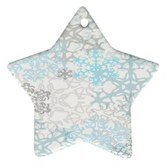 Sign Flower Floral Transparent Star Ornament (two Sides) by Mariart
