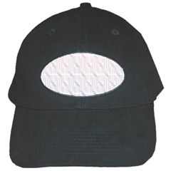 Seamless Horizontal Modern Stylish Repeating Geometric Shapes Rose Quartz Black Cap by Mariart