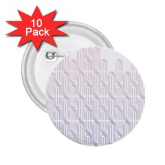 Seamless Horizontal Modern Stylish Repeating Geometric Shapes Rose Quartz 2 25  Buttons (10 Pack)