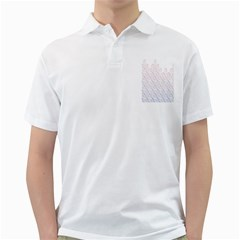 Seamless Horizontal Modern Stylish Repeating Geometric Shapes Rose Quartz Golf Shirts by Mariart