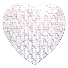 Seamless Horizontal Modern Stylish Repeating Geometric Shapes Rose Quartz Jigsaw Puzzle (heart) by Mariart
