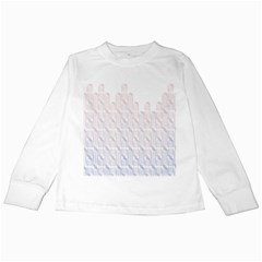 Seamless Horizontal Modern Stylish Repeating Geometric Shapes Rose Quartz Kids Long Sleeve T-shirts by Mariart