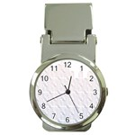 Seamless Horizontal Modern Stylish Repeating Geometric Shapes Rose Quartz Money Clip Watches Front