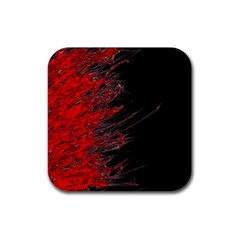 Fire Rubber Coaster (square)  by Valentinaart