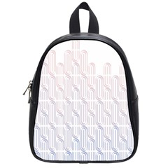 Seamless Horizontal Modern Stylish Repeating Geometric Shapes Rose Quartz School Bags (small)  by Mariart