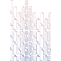 Seamless Horizontal Modern Stylish Repeating Geometric Shapes Rose Quartz 5 5  X 8 5  Notebooks by Mariart