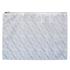 Seamless Horizontal Modern Stylish Repeating Geometric Shapes Rose Quartz Cosmetic Bag (xxl)  by Mariart
