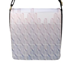 Seamless Horizontal Modern Stylish Repeating Geometric Shapes Rose Quartz Flap Messenger Bag (l)  by Mariart