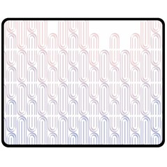 Seamless Horizontal Modern Stylish Repeating Geometric Shapes Rose Quartz Double Sided Fleece Blanket (medium)  by Mariart