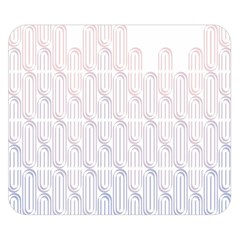 Seamless Horizontal Modern Stylish Repeating Geometric Shapes Rose Quartz Double Sided Flano Blanket (small)