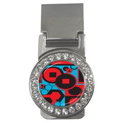 Stancilm Circle Round Plaid Triangle Red Blue Black Money Clips (cz)  by Mariart