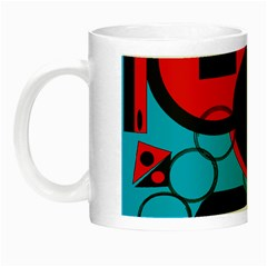 Stancilm Circle Round Plaid Triangle Red Blue Black Night Luminous Mugs by Mariart