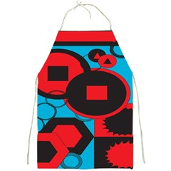 Stancilm Circle Round Plaid Triangle Red Blue Black Full Print Aprons by Mariart