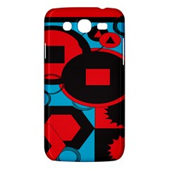Stancilm Circle Round Plaid Triangle Red Blue Black Samsung Galaxy Mega 5 8 I9152 Hardshell Case  by Mariart