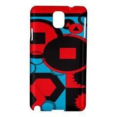 Stancilm Circle Round Plaid Triangle Red Blue Black Samsung Galaxy Note 3 N9005 Hardshell Case by Mariart