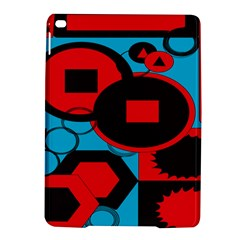 Stancilm Circle Round Plaid Triangle Red Blue Black Ipad Air 2 Hardshell Cases by Mariart