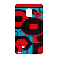 Stancilm Circle Round Plaid Triangle Red Blue Black Galaxy Note Edge by Mariart