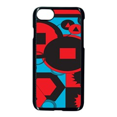 Stancilm Circle Round Plaid Triangle Red Blue Black Apple Iphone 7 Seamless Case (black) by Mariart