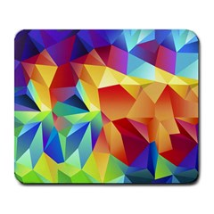 Triangles Space Rainbow Color Large Mousepads by Mariart