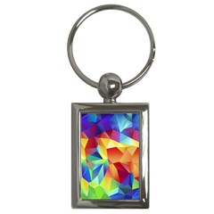 Triangles Space Rainbow Color Key Chains (rectangle)  by Mariart