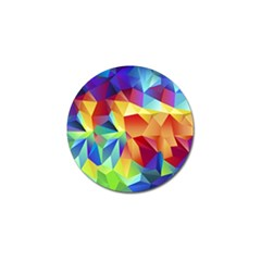 Triangles Space Rainbow Color Golf Ball Marker (10 Pack) by Mariart