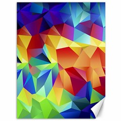 Triangles Space Rainbow Color Canvas 36  X 48   by Mariart