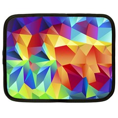 Triangles Space Rainbow Color Netbook Case (large) by Mariart
