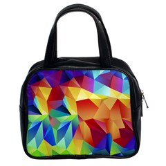 Triangles Space Rainbow Color Classic Handbags (2 Sides) by Mariart