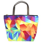 Triangles Space Rainbow Color Bucket Bags Front