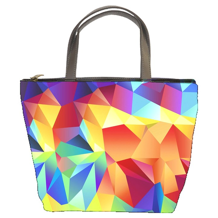 Triangles Space Rainbow Color Bucket Bags