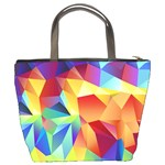 Triangles Space Rainbow Color Bucket Bags Back